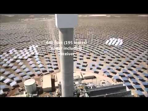 Take a look at the Crescent Dunes Solar...