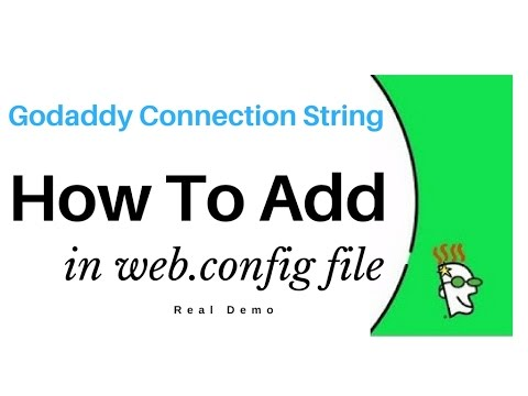 Sql Server Connection String In web.config – Godaddy myLittleAdmin