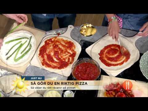Så gör du en riktig pizza! - Nyhetsmorgon (TV4)