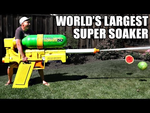 World's LARGEST SUPER SOAKER!! (not clickbait)