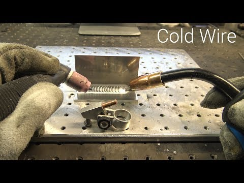 TIG Welding &  MIG Welder at the Same Time - Using Wire Instead of Filler Rod