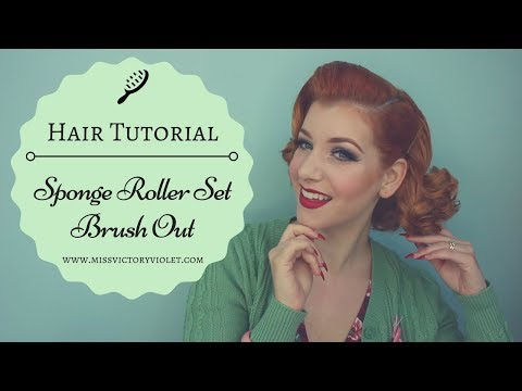 Sponge Roller Set Brush Out Vintage Hair Tutorial