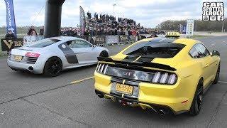 Ford Mustang GT vs. Porsche GT3RS vs. Audi R8 vs. Mclaren 720S vs. Porsche Cayman GT4