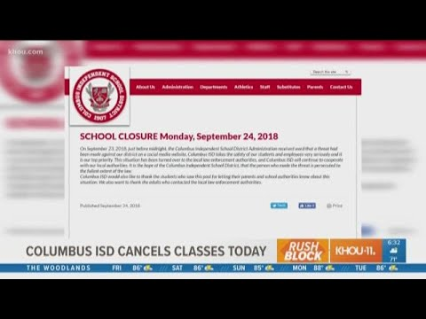 Columbus ISD closed Monday due to social media threat