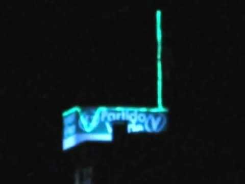 Sede Do PV Partido Verde Em Farroupilha RS à Noite.