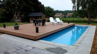 piscine sous terrasse. Black Bedroom Furniture Sets. Home Design Ideas