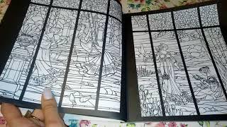 Обзор раскраски Витражи
