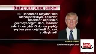 Trump'ın 15 Temmuz yorumu