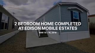 2 bedroom home in Edison Mobile Estates is completed and ready for homeowner! www.MyHomeInEdison.com