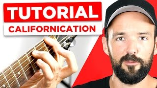 Red Hot Chili Peppers - Californication - Guitar Tutorial - Teil 3