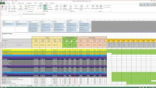 Monitoring and Controlling Excel Sheet, From Primavera to Excel