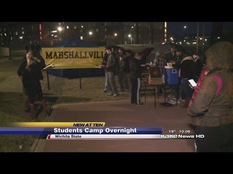 WSU students camp outside Koch Arena for Saturday's game