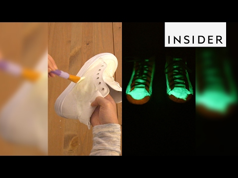 Make your shoes glow in the dark with this powder