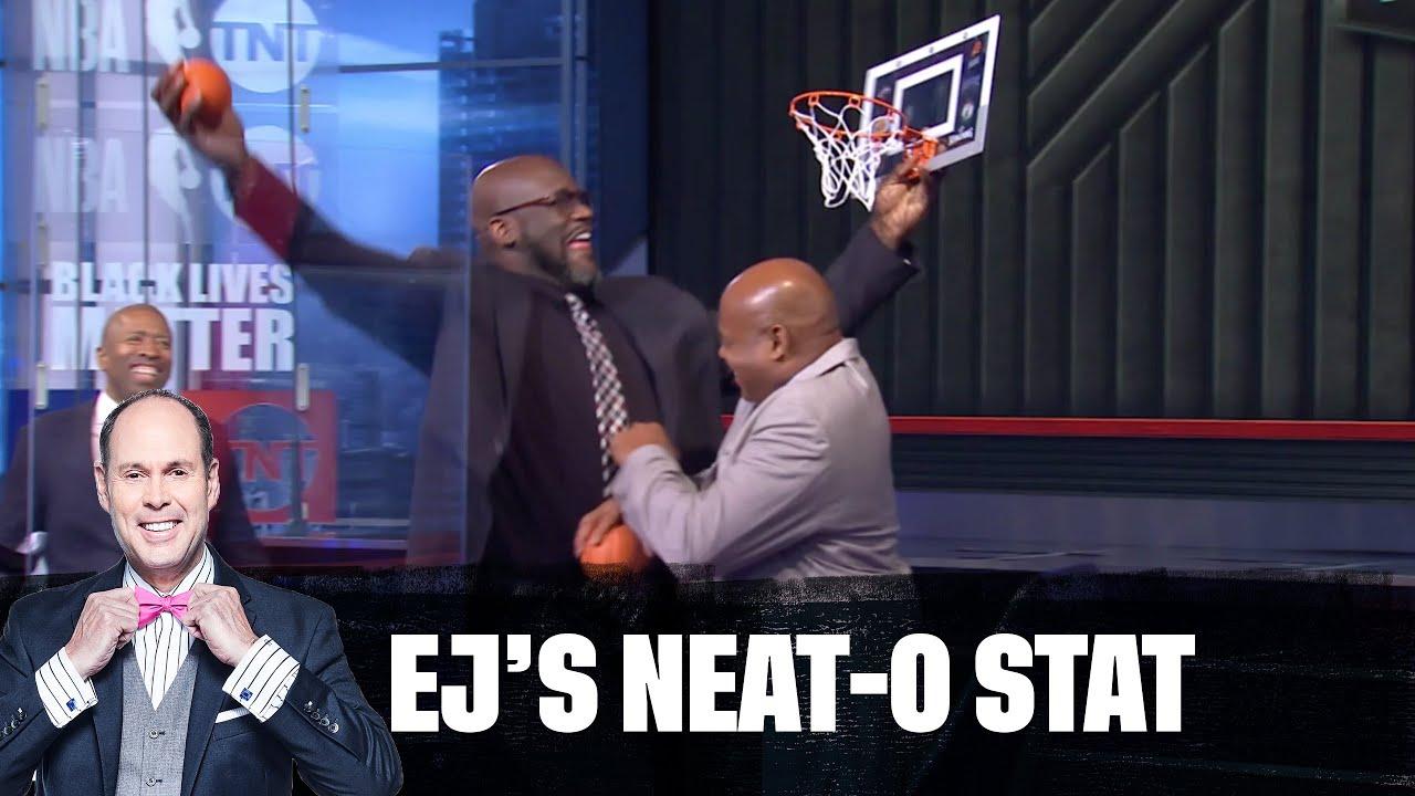 Shaq Tries to Dunk on Chuck | EJ's Neato Stat