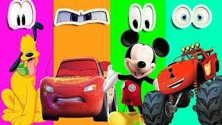 Wrong Eyes Mickey Mouse Clubhouse Pluto Cars 3 Lightning Mcqueen Blaze Monster Machines SO FUNNY