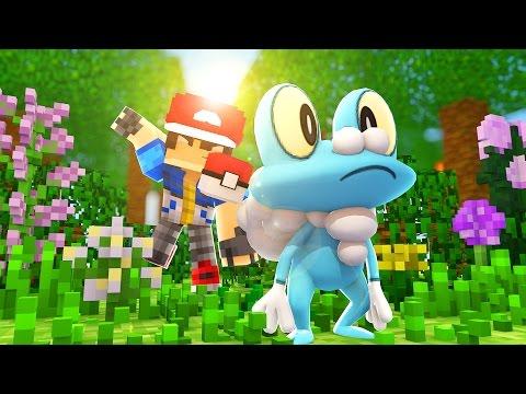 Minecraft: Acampamento Pokemon X Y - CAPTUREI UM FROAKIE !! #5