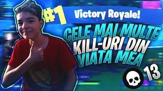 Cele mai multe KILL-uri din VIATA MEA pe Fortnite+WIN(Meci extras de pe Live)