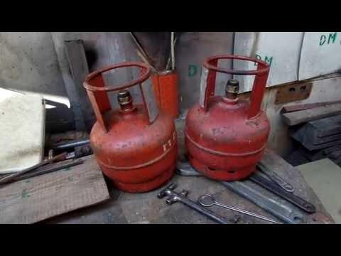 Мое приспособление для откручивания кранов с маленьких газовых баллонов в дачной мастерской