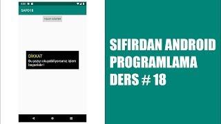 Toast Kullanımı Sıfırdan Android Programlama Dersleri 18