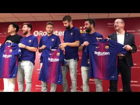 Barcelona Rakuten Presser - Presentation of Shirts