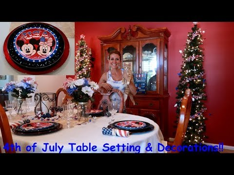 Amazing 4th Of July Decorations Table Setting Ideas Disney Place Settings