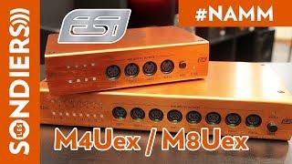 [NAMM 2018] ESI M4Uex / M8Uex 8 and 16 PORTS MIDI INTERFACES [VOSTFR]