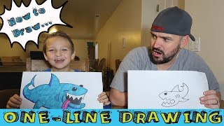 Random Line drawing | HOW TO DRAW A SHARK