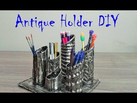 How to make Pen, Pencil Holder - DIY Pen Holder - DIY Roll Craft