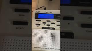 My Midland Wr100 weather radio!