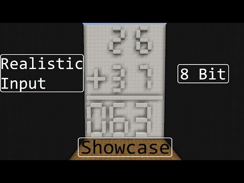 Minecraft Showcase: 8 Bit Calculator with Advanced Input [60fps]