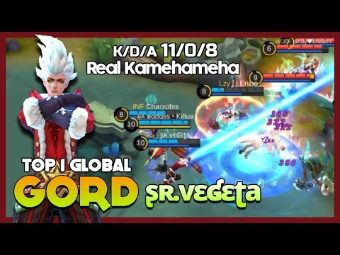 "Super Kamehameha WTF Skill ʂʀ.vɛʛɛʈa Ranked 1 Global Gord ""I'm Real Vegeta"" ~ Mobile Legends"