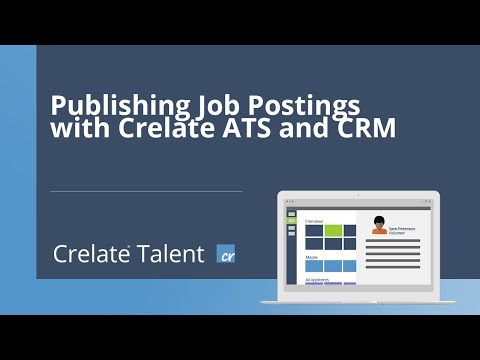Publishing Job Postings to Job Boards and Your Website with Crelate