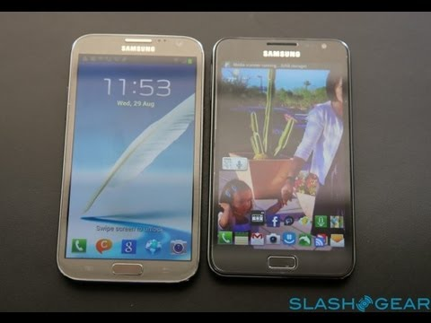 Galaxy Note 2 VS Galaxy Note 1 - Hands On and Comparison