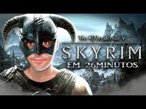 Zerando Skyrim em 26 MINUTOS, muitos GLITCHES - REACT thumbnail