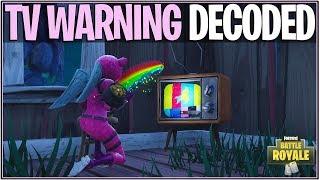 *NEW* Fortnite: NEW LLAMA TV WARNING'S FULL MEANING! | (Morse Code Solved/DeBunked)