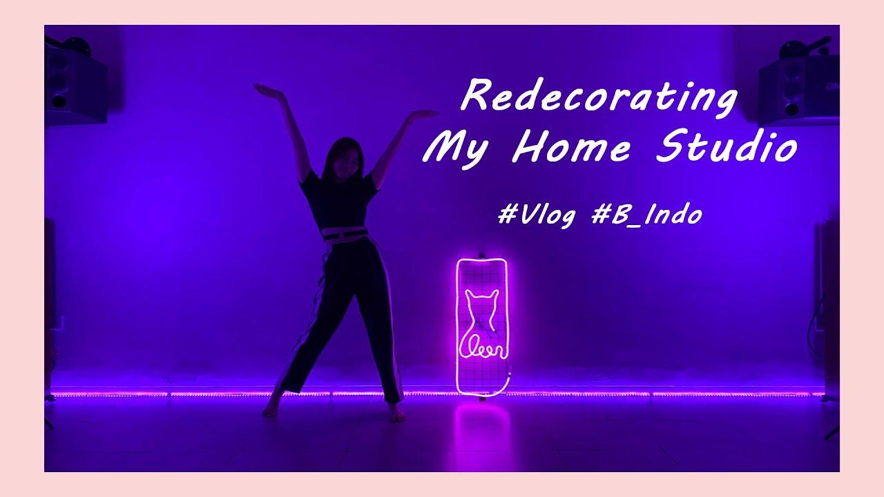 Redecorating my home dance studio! (Vlog bahasa indonesia 🇮🇩)