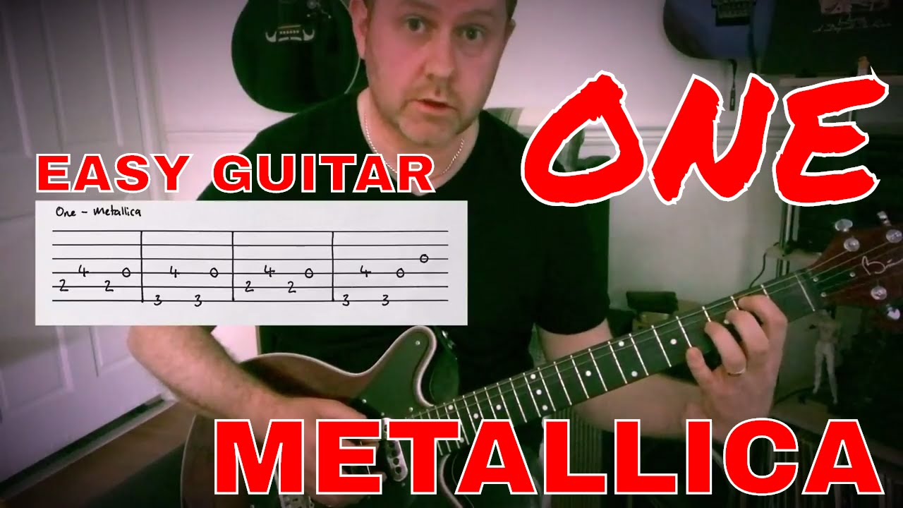 easy guitar one metallica lesson guitar tab youtube. Black Bedroom Furniture Sets. Home Design Ideas