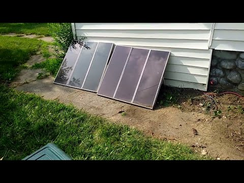 Wired Two Solar Panels For Off Grid