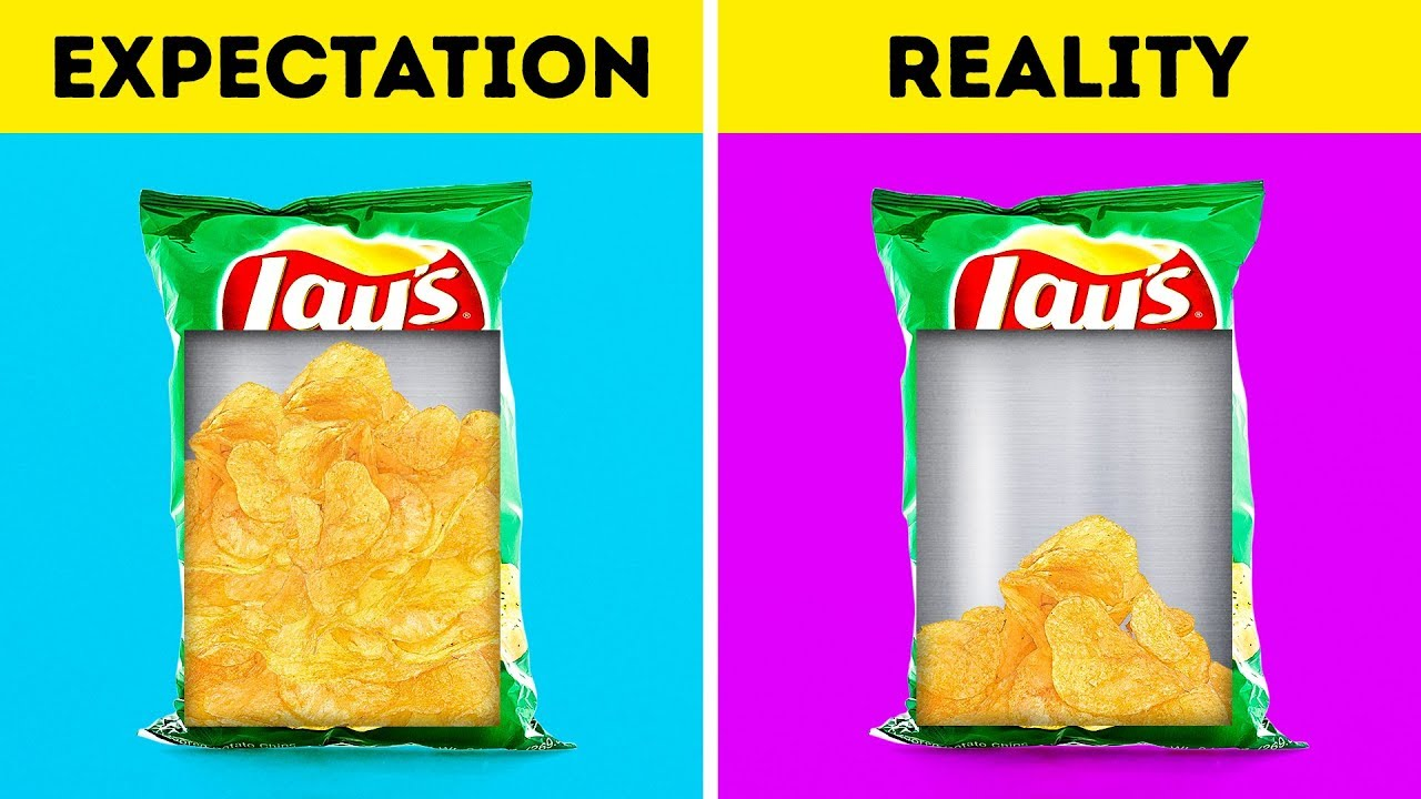 EXPECTATION VS REALITY  ||  FOOD FACTS DON'T WANT YOU TO KNOW