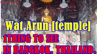 Top Things to See  [Wat Arun temple] .BANGKOK, Thailand Travel Here.