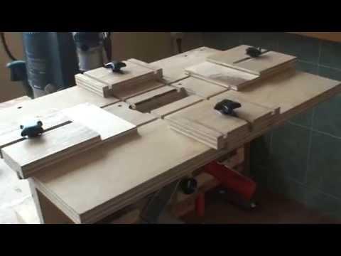 mesa de escopleado