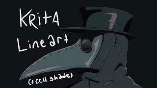 Krita Lineart + Cell Shade tutorial