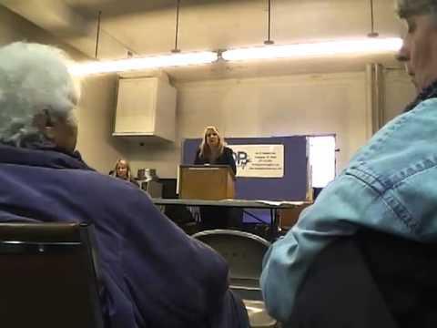 Anti-Fracking Meeting at Muskegon C.I.O. Bldg., April 10, 2013