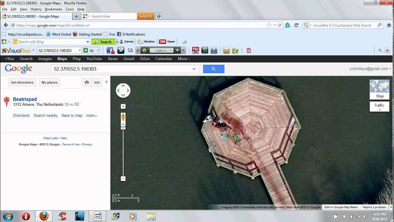 Guy caught killing someone on google earth - YouTube on