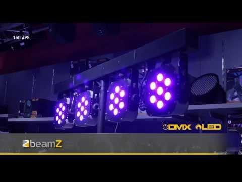 BeamZ PARBAR 4-Way Kit 7x 10W Quad LEDs DMX 150.495 BeamZ