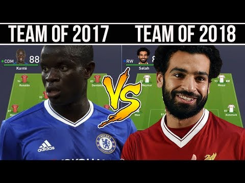 TEAM OF THE YEAR 2017  VS TEAM OF THE YEAR 2018 - FIFA 18 EXPERIMENT!
