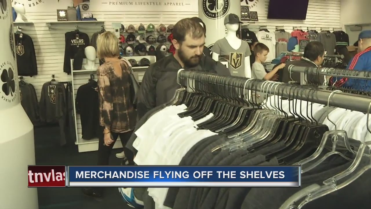 Vegas Golden Knights merchandise flying off the shelves - YouTube 2152e7559