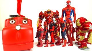 Avengers Superheroes, Spiderman, Hulkbuster, Iron Man, Dive into the Chuggington Carry Case!