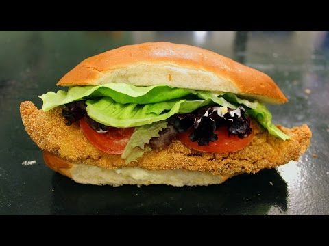 Fried Catfish Po-Boy Recipe. How To Cook Catfish Po-boy Sand Which And Tartar Sauce