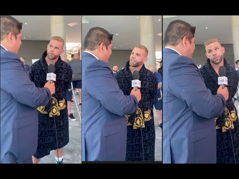 'YOUR BREATHS LIKE S***' - BILLY JOE SAUNDERS  TROLLS MEXICAN REPORTER DURING INTERVIEW